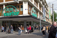 Kaufhof Store in Mannheim Stock Photos