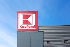 Kaufland大型超级市场标志 免版税库存照片