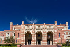 Kaufman Hall on the campus of UCLA. LOS ANGELES, CA/USA - OCTOBER 4, 2014: Kaufman Hall on the campus of UCLA. UCLA is a public research university located in Royalty Free Stock Image