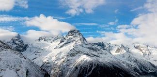 Kaukasische berg Stock Afbeelding