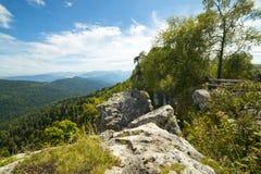 Kaukasische Berge Stockfoto