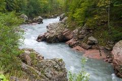 Kaukasische Berge Stockfotografie