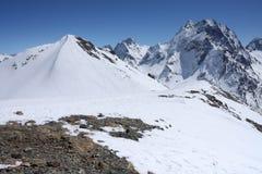 Kaukasische bergen Royalty-vrije Stock Afbeeldingen