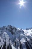 Kaukasische bergen Stock Afbeeldingen