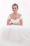 Kaukasische blonde Braut der attraktiven Zwanzigerjahre Stockfotografie