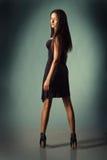 Kaukasische Frau im Kleid stockfotografie
