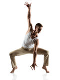 Kaukasische mannelijke danser stock fotografie