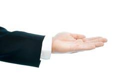 Kaukasische mannelijke geïsoleerde handsamenstelling Stock Foto