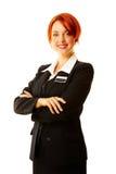 Kaukasische vrouw als hotelarbeider Royalty-vrije Stock Foto's