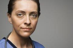 Kaukasische vrouw arts. Stock Afbeelding