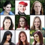 Kaukasische vrouwen die zich van 18 tot 30 jaar uitstrekken Stock Afbeeldingen