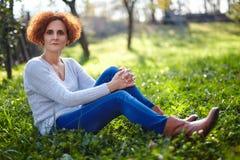 Kaukasischer Frauenlandwirt Stockbild