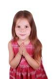 Kaukasisches Mädchen betet Stockfotos