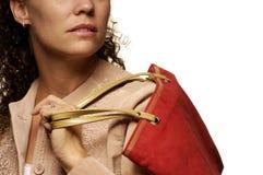 Kaukasisches weibliches Einkaufen Lizenzfreies Stockfoto