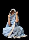 Kaukaska kobieta w Malezyjskim sari zdjęcia stock
