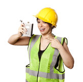 Alkoholu bezpieczeństwa kobieta Zdjęcia Royalty Free