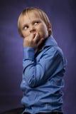Kaukaska mała chłopiec Obrazy Royalty Free