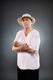 Kaukaska starsza kobieta Zdjęcie Royalty Free