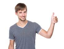 Kaukaski mężczyzna z kciukiem up Zdjęcia Stock