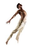 Kaukaski męski tancerz Zdjęcia Royalty Free