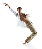 Kaukaski męski tancerz Zdjęcia Stock