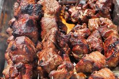 Kaukaski shish kebab na skewers Zdjęcia Stock