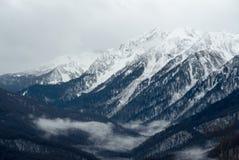 Kaukaskie góry w Krasnaya Polyana, Sochi, Rosja Obrazy Royalty Free