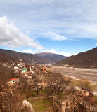 Kaukasus berg av Georgia Royaltyfri Foto