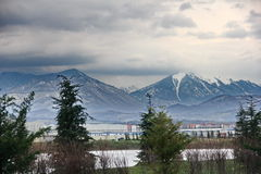 Kaukasus berg i den Sochi regionen Fotografering för Bildbyråer