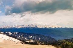 Kaukasus berg i Sochi royaltyfri bild