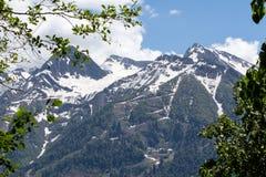 Kaukasus-Berge, Dombay Stockfotografie