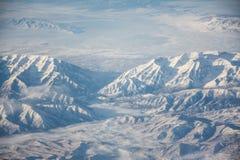 Kaukasus, Georgia, Ansicht vom Skiort Gudauri Lizenzfreie Stockbilder