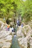 kaukasus Sochi Fluss Agura Lizenzfreie Stockfotos