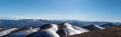 Kaukaz pasmo górskie Wysoki punkt szczyt Panora obraz royalty free