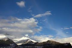 Kaukaz, zimy góra Zdjęcia Stock
