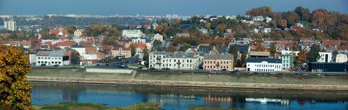 Kaunas śródmieścia panorama zdjęcie royalty free