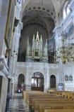 Kaunas agosto 21,2014 - Basillica San Pedro y Paul, interior de Kaunas en Lituania Foto de archivo libre de regalías