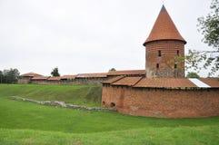 Kaunas agosto 21,2014-Castle en Kaunas en Lituania Foto de archivo