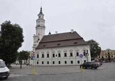 Kaunas agosto 21,2014-Town Salão de Kaunas em Lituânia Foto de Stock