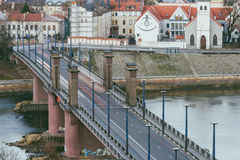 Kaunas Aleksotas Bridge, Lithuania Stock Photos