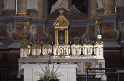 Kaunas August 21,2014- Basillica St Peter and Paul,interior from Kaunas in Lithuania Royalty Free Stock Photos