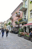 Kaunas August 21,2014-Historic center of Kaunas in Lithuania Royalty Free Stock Images