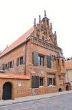 Kaunas August 21,2014-Perkuno house from Kaunas in Lithuania Stock Photos