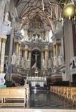 Kaunas 21,2014 augusti - Basillica St Peter e Paul, interno da Kaunas in Lituania Fotografie Stock