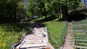 Kaunas Azuolyno parkerar Arkivfoto
