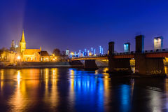 Kaunas bij nacht Royalty-vrije Stock Afbeelding