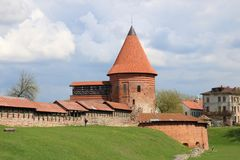 Kaunas Castle, Λιθουανία Στοκ Εικόνα