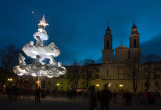 Kaunas christmas tree Stock Photography