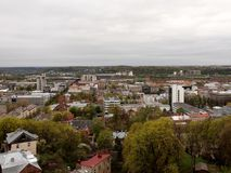 Kaunas city. View - second city of Lithuania Royalty Free Stock Photo