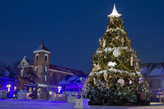 Kaunas city hall square in Christmas time Stock Photo
